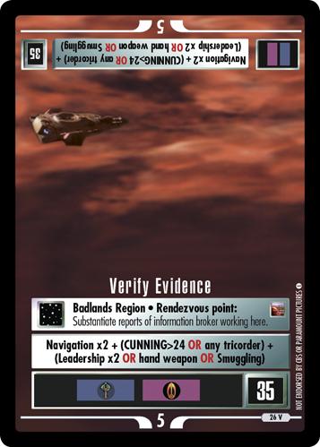 Verify Evidence