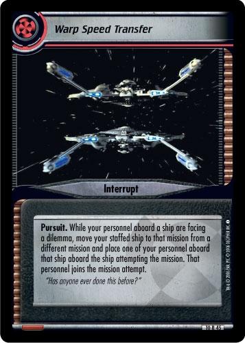 Warp Speed Transfer