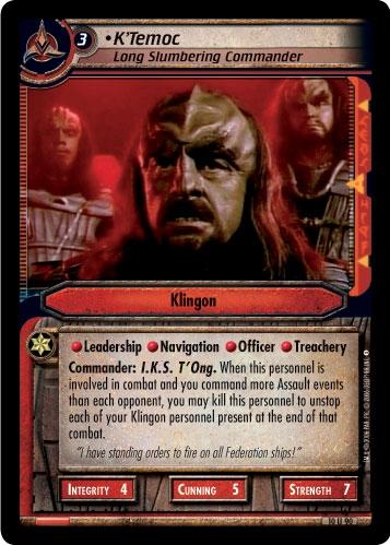 K'Temoc, Long Slumbering Commander