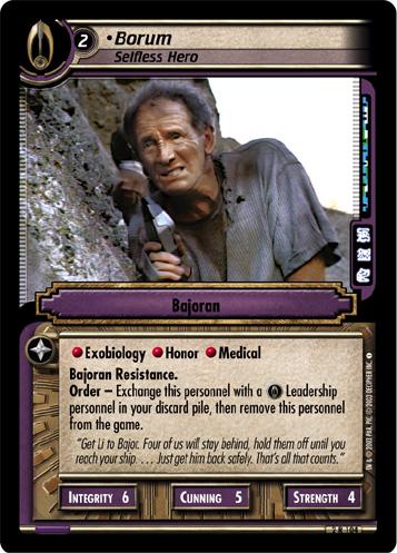 Borum, Selfless Hero