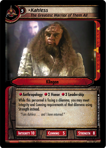 Kahless, The Greatest Warrior of Them All