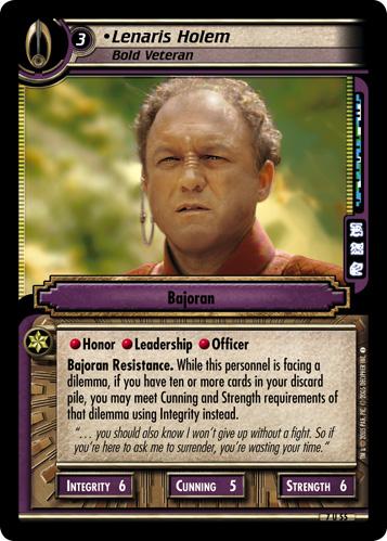 Lenaris Holem, Bold Veteran