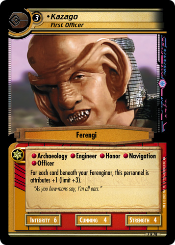 Kazago, First Officer