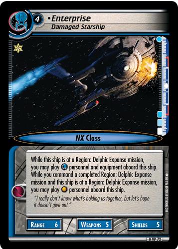 Enterprise, Damaged Starship