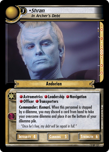 Shran, In Archer's Debt